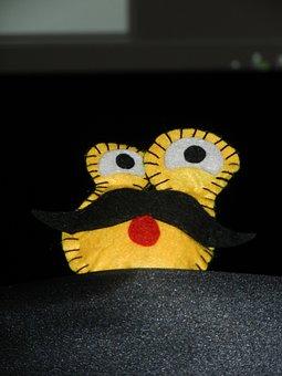 Plush, The Mascot, Teddy Bear, Eyes, Mustache