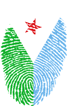 Djibouti, Flag, Fingerprint, Country, Pride, Identity