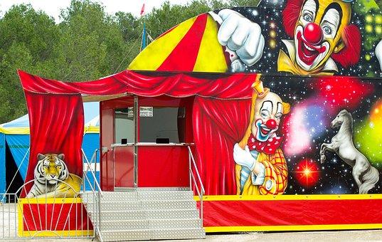 Circus, Clowns, Marquee, Show, Circus Tent