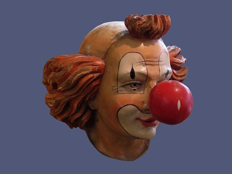 Clown, Face, Mask, Head