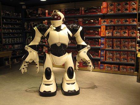 Robot, Toy, Store, Giant, Machine, Futuristic