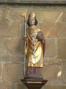 St Matthäus Church, Melle, Bishop, Statue, Figure