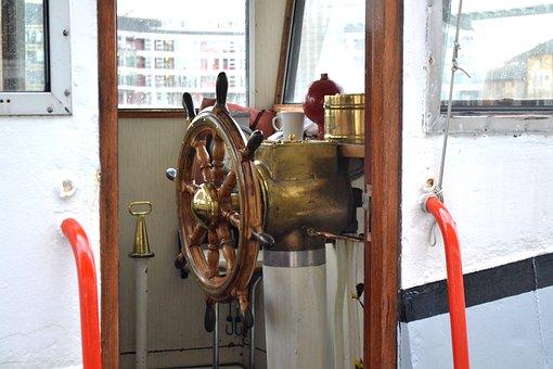 Wheelhouse, Boat, Marine, Steering, Ship, Vessel