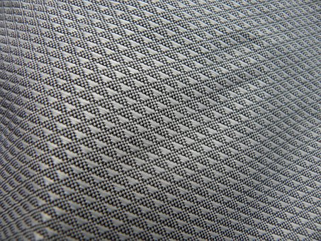 Fabric, Textile, Silver, Grey, Surface Embossing