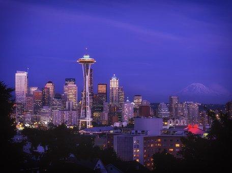 Seattle, Washington, City, Urban, Skyline, Space Needle