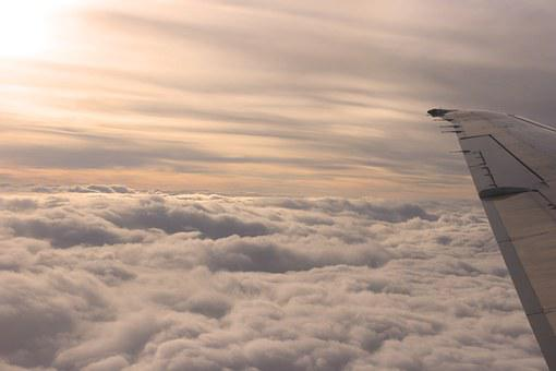 A Sea Of clouds, Alps, Plane