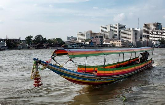 Thailand, Boat, Asia, Tropical, Tail, Long, Water