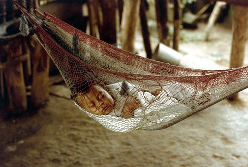 Honduras, Baby, Sleeping, Cute, Inside, Hut, House