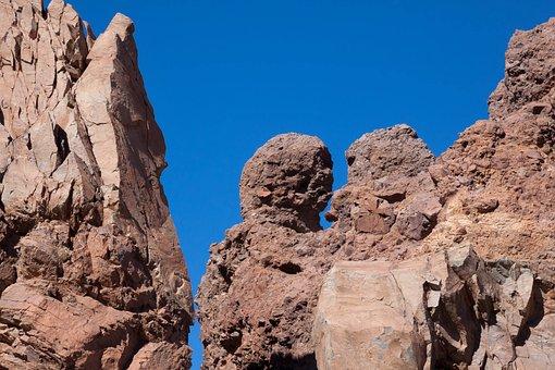 Rock, Los Roques, Teide, Sky, Blue, Rocky Towers