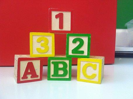 Building Blocks, Toys, Play, Abc, 123, Cubes, Dices