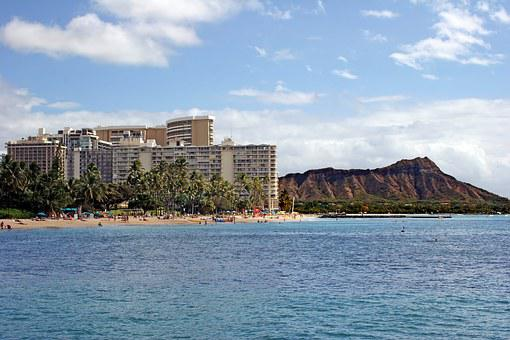 Hawaii, Diamond Head, Hotel, Honolulu, Oahu, Waikiki