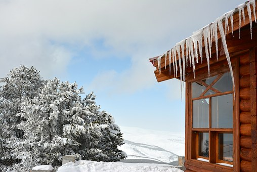 Sarıkamış, Snow, Mountain, Summit, Ice, Wooden House