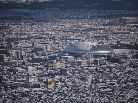 Japan, Sapporo, Hokkaido, Building, Sapporo Dome