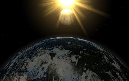 Fluffy, Planetatierra, World, Sun, Moon, Lune, Space