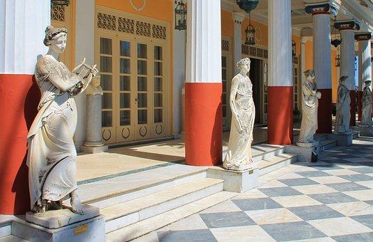 Corfu, Palace, Achillion, Greece