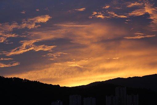Sunset, Panorama, Penang Island, Malaysia