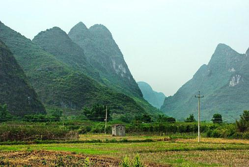 China, Yangshuo, Rural Landscape, Hills, Dampness
