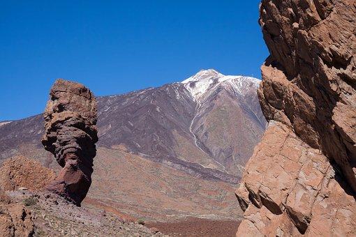 Rock, Los Roques, Roque Cinchado, Teide, Sky, Blue