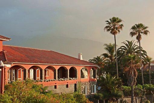 Villa, Spanish, Characteristic, Palm Trees, Tenerife