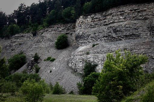 Quarry, Scree, Nature, Plant, Fouling, Stone Demolition