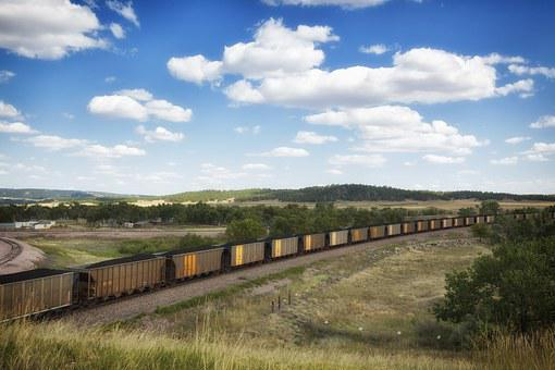 South Dakota, Landscape, Scenic, Coal Train, Travel