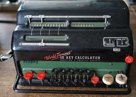 Calculating Machine, Old, Calculator, Nostalgic