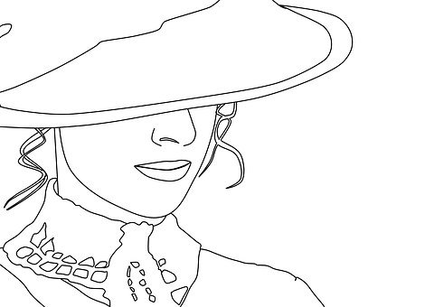Woman, Victorian, Drawing, Hat, Classic Woman