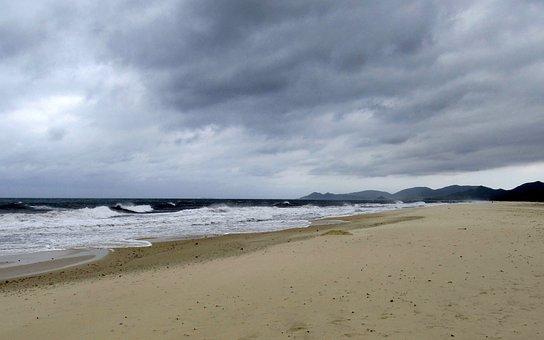 Sardinia, Costa Rei, Sea, Forward, Clouds