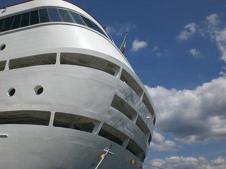 Cruise Ship, Cruise, Cruiser, Ship Rear, Rear, Trieste