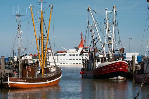Boats, Port, Ships, Ferry, Fishing Boats, Mast