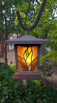 Lamp, Garden, Dusk, Light, Outdoor, Decoration, Lantern