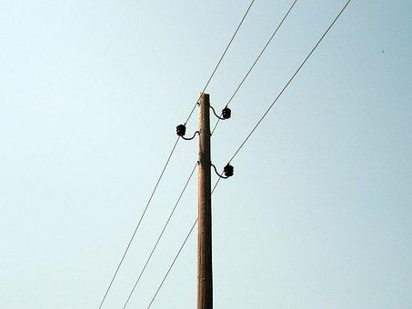 Line, Power Line, Power Poles, Mast, Phone