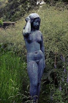 Statue, Woman, Friendship Island, Sculpture