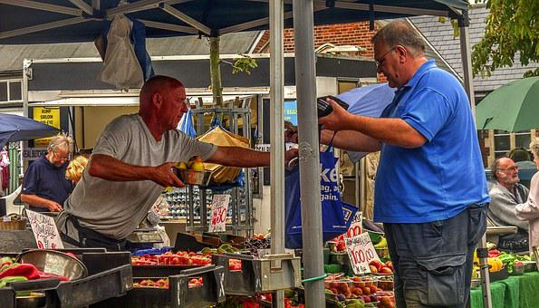 Fruit, Market, Stall, Fruits And Vegetables, Shopping