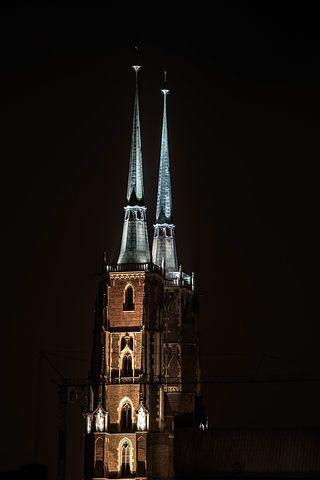 Church, Tower, Spire, Steeple, Architecture, Landmark