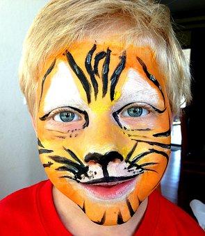 Mask, Make-up, Costume, Tiger, Lion, Child