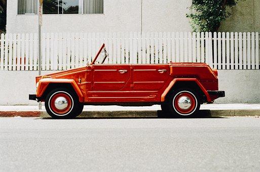 Car, Vintage, Red, Oldtimer, Vehicle, Automobile, Old