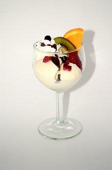 Dessert, Ice Cream, Fruit, Sweets, Whipped Cream