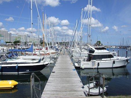 Baltic Sea, Port, Yachts, Marina, Boat For Rent
