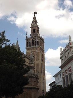 Giralda, Seville, Cathedral, Monuments, Andalusia
