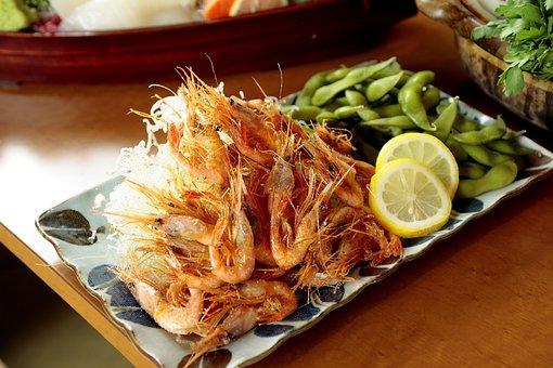 Cuisine, Shrimp, Edamame