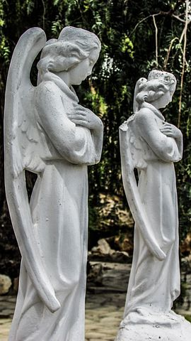 Angels, Praying, Garden, Faith, Religion, Cyprus