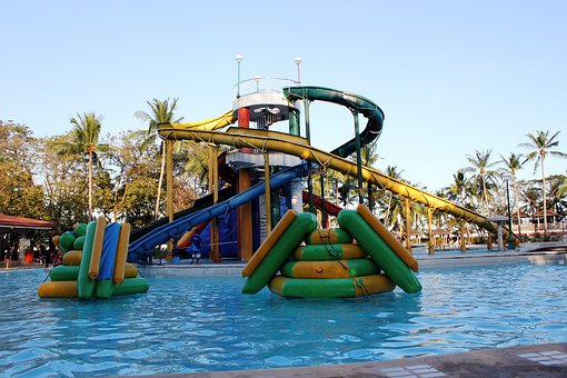 Slide, Trill, High, Swimming Pool, Excited, Fun