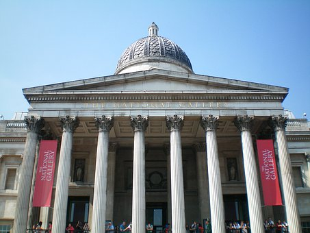 England, London, Building, National, National Gallery
