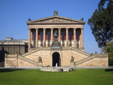 National Gallery, Building, Antique, Berlin, Art