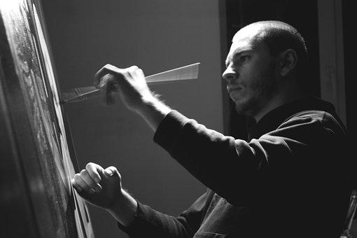 Nikita Shalenny, Painter, Ukranian, Black And White