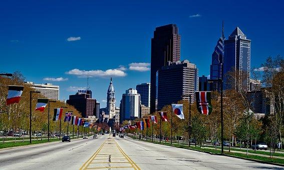 Philadelphia, Pennsylvania, City, Urban, Skyscrapers
