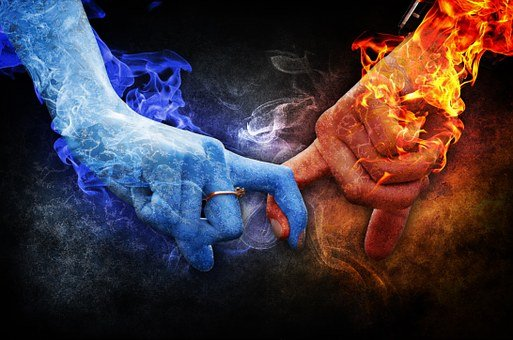 Love, Relationship, Ice, Fire, Feelings, Romance