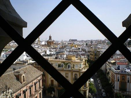 Giralda, Views, Seville, Cathedral, Spain, Tower