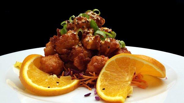 Shrimp, Orange, Crustacean, Seafood, Sweet, Gourmet
